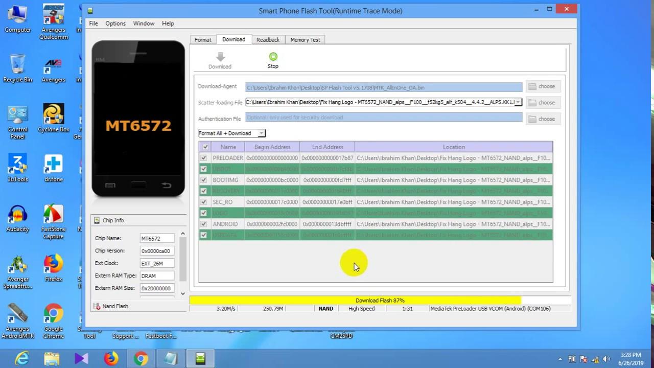 Tinmo F100 Hang On Logo Fix Flash File MT6572 ( Password Free )