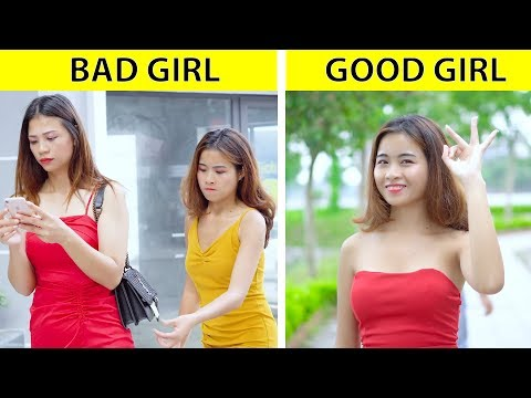 Good Girls vs Bad Girls! KINDNESS IS SO SIMPLE TO BE A GOOD GIRL by GLASSES MEDIA