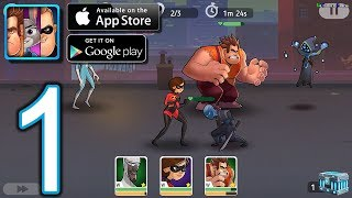 Disney Heroes Battle Mode Android iOS Walkthrough   Gameplay Part 1   CH1 Sunrise Line