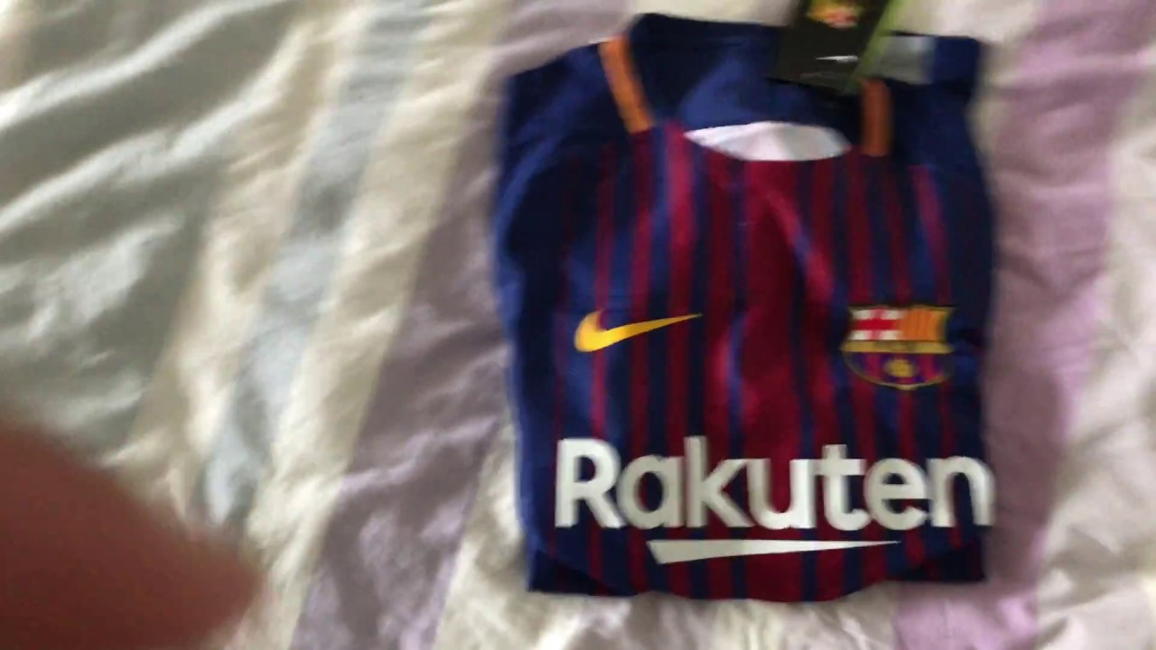 11b9668086b Minejerseys- Barcelona Home Jersey 17 18 (Player Version) Review ...