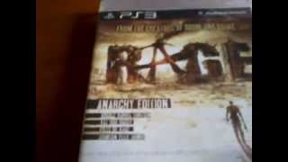 Unboxing Rage Anarchy Edition PS3