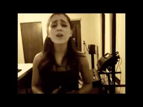 Ariana Grande singing 'Bleeding Love'