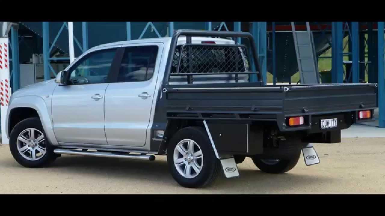 Amarok Dual Cab Highline Steel Tray by Boss Built  YouTube