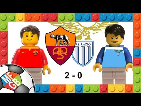ROMA - LAZIO 2-0 - Lego Calcio Serie A 2015/16 - Goals Dzeko E Gervinho - Highlights E Sintesi Derby