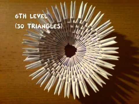 3D оригами белый лебедь