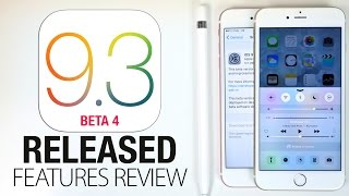 iOS 9.3 Beta 4 Pushed Out With 5 New Changes. What's New Features Review + Speed Test, Faster? + Release Date Estimate.