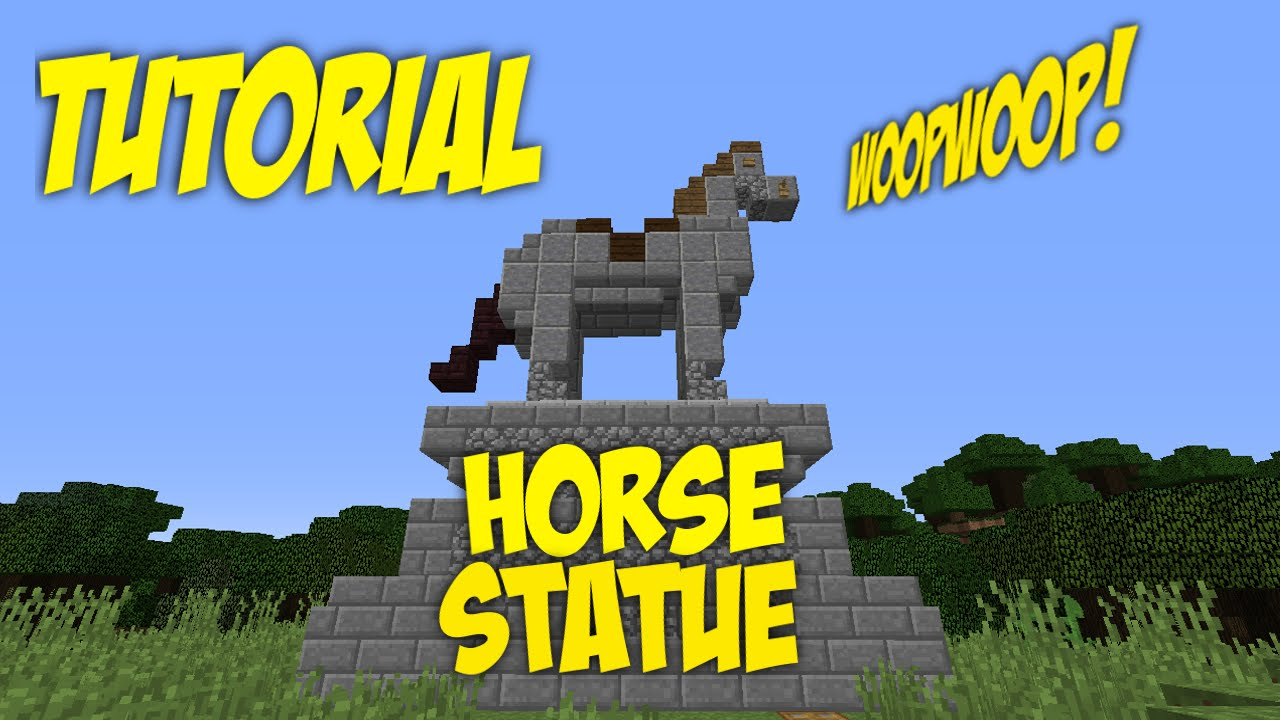Minecraft How To Build A Horse Statue Tutorial - YouTube