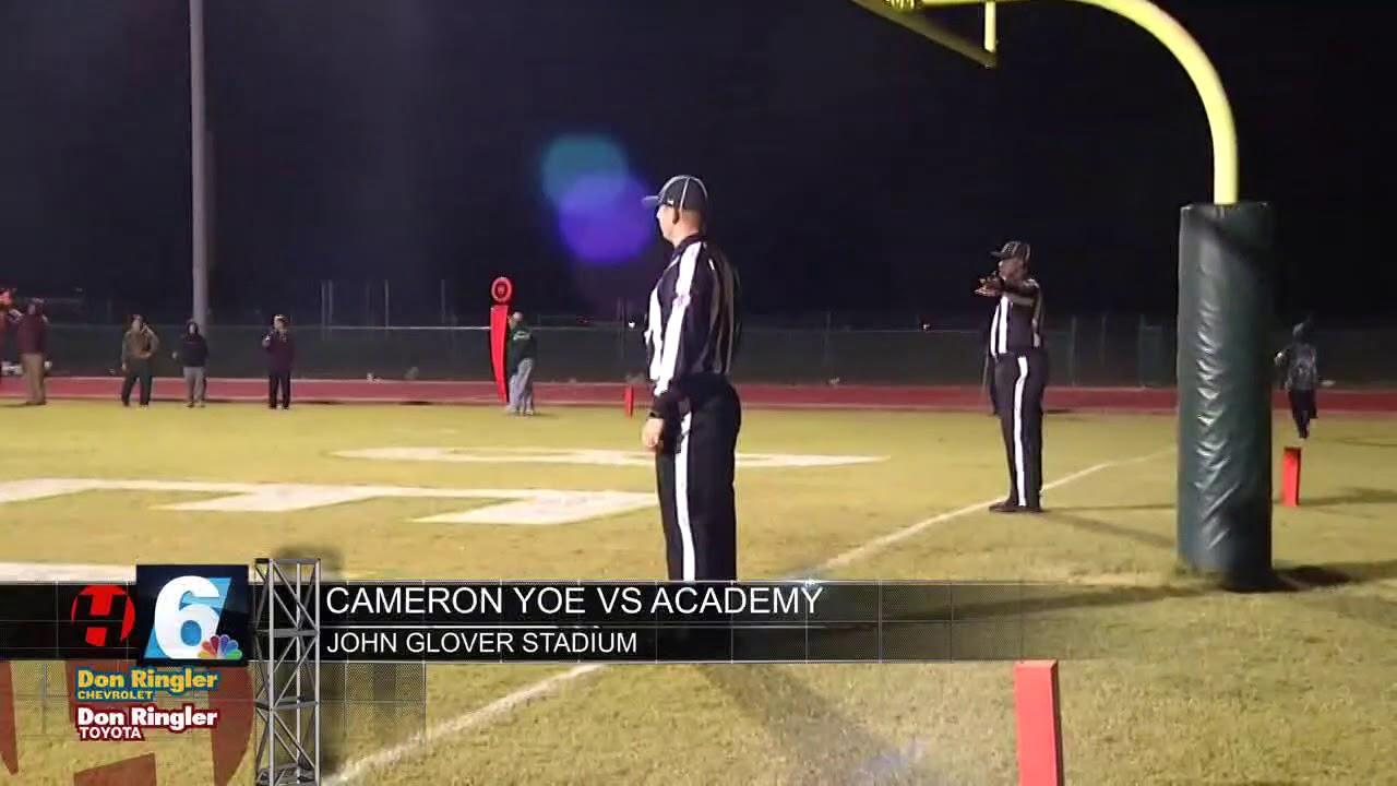 Cameron Yoe vs Academy