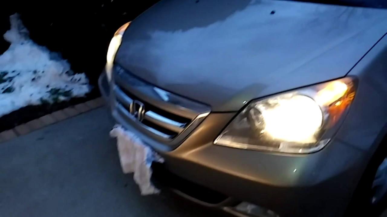 2007 Honda Odyssey Ex L Headlight And Fog Light Bulbs Replacement