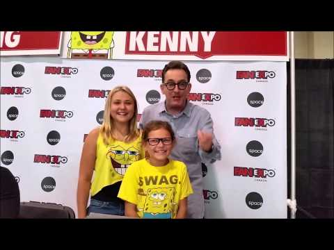 Kait and Dani with Tom Kenny Fan Expo 2015