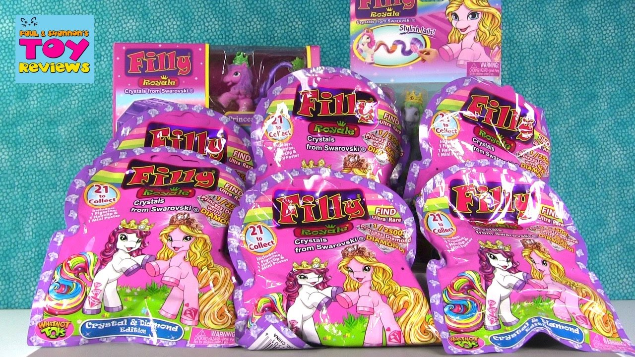 filly royale crystal edition blind bag ponies horses opening