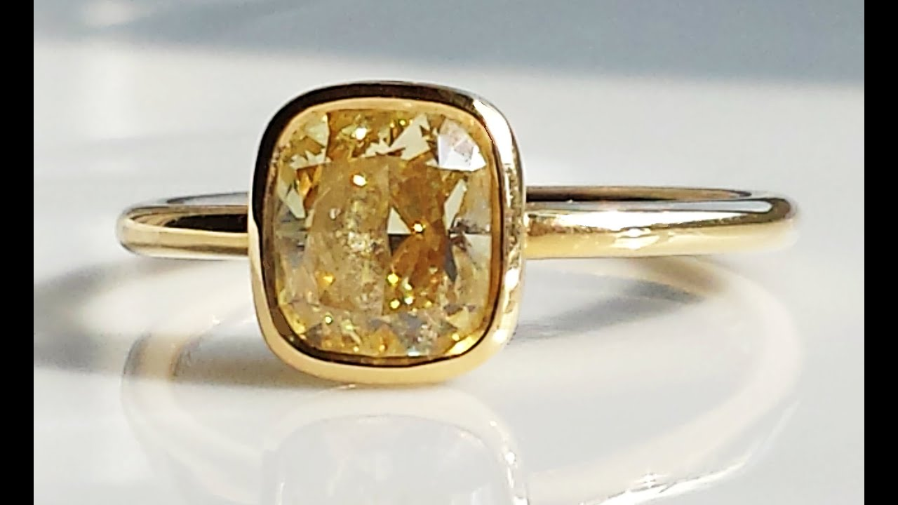 luminous engagement citrine amber rings blanche cocktail lily gemstone ring gold