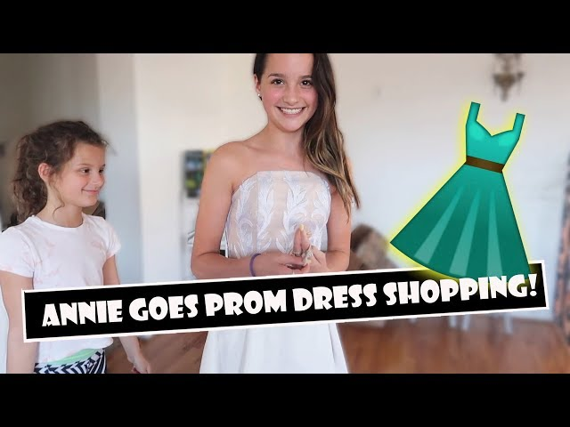 Annie Goes Prom Dress Shopping Wk 3833 Bratayley Outfit Yt