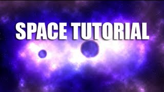 Photoshop: How to make a Space Nebula with Planets (TUTORIAL)
