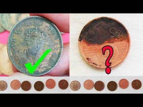 #പഴയ നാണയങ്ങൾ കിടിലനായി വൃത്തിയാക്കാം |How To Clean Filthy And Old Coins With An Easy Trick 2018