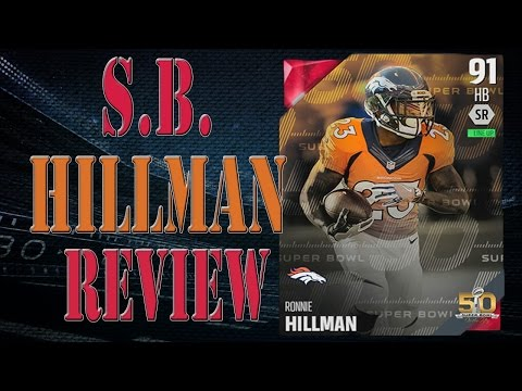 91 Super Bowl Ronnie Hillman Review |  Player Review | Madden 16 Ultimate Team Gameplay | MUT 16