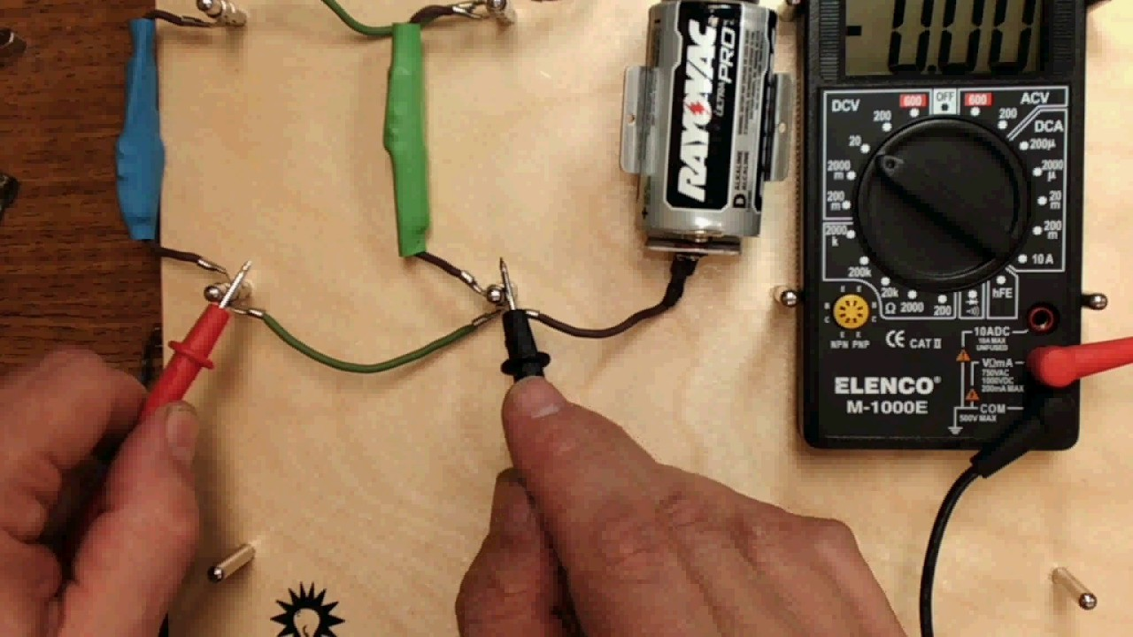 Using A Multimeter In Parallel Circuit Youtube Wiring Circuits