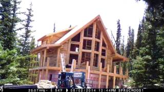 Log Home Construction Time Lapse