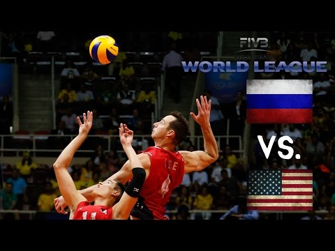 USA vs Russia - 2016 FIVB World League -  ALL ACTION NO BREAKS
