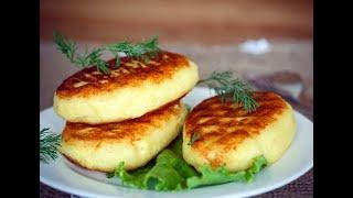 Простой рецепт Картофельные Зразы с ветчиной и сыром