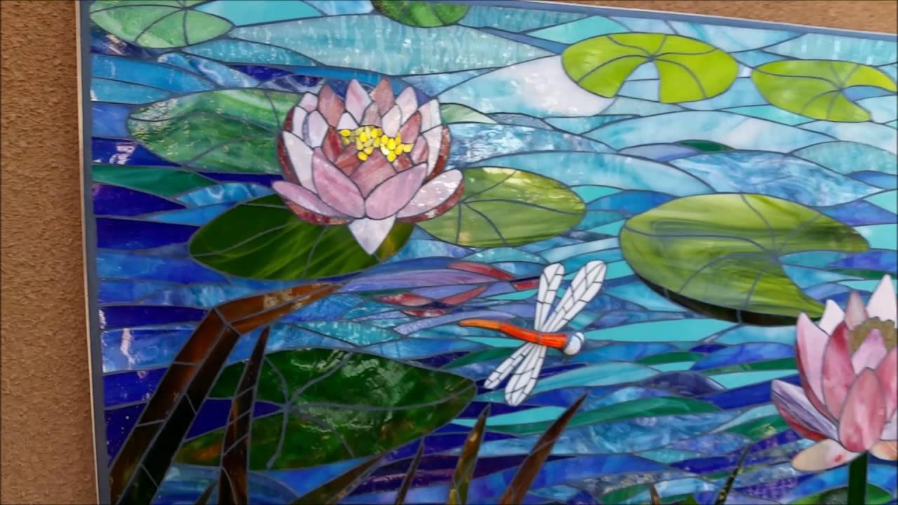 Lotus Glass Tile Mosaic Youtube