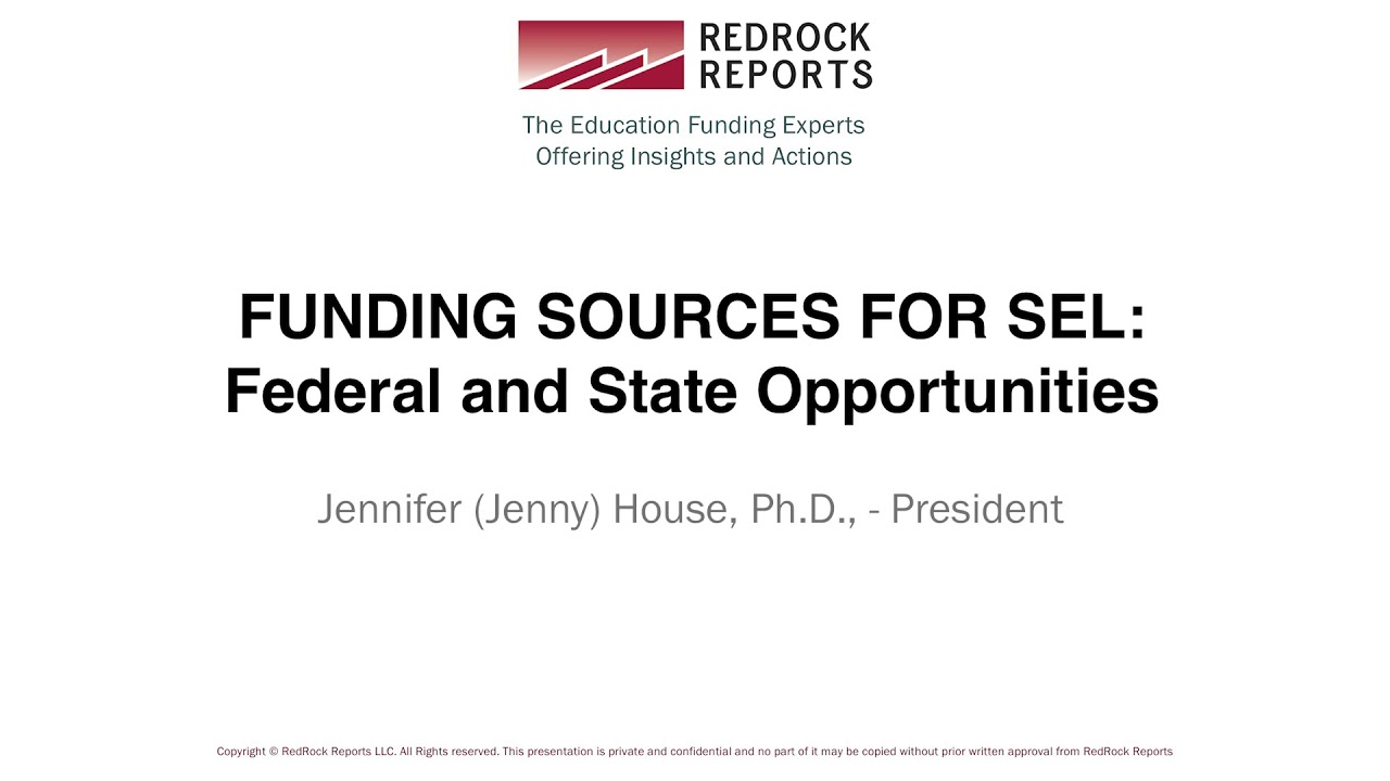 Expect More Emphasis On Sel In 2017 >> Funding Sources For Sel Federal And State Opportunities Committee