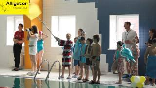 Детское соревнование по плаванию