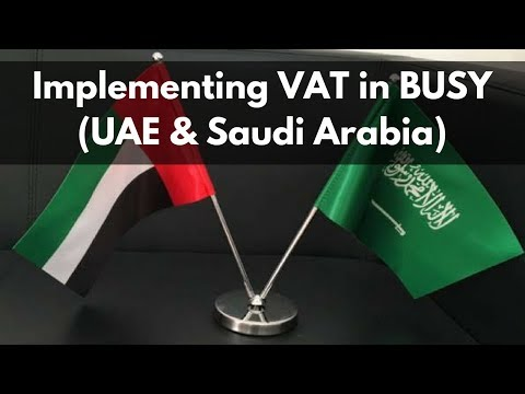 Implementing VAT in BUSY (for U.A.E & Saudi Arabia) - Hindi