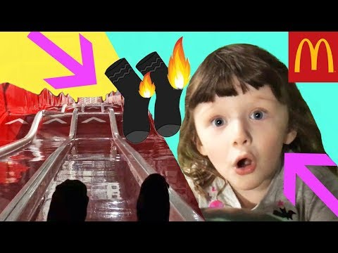 Ava Isla and Olivia have FUN On BIGGEST SLIDE EVER with a Special Guest ! Plus Trip to Mcdonalds
