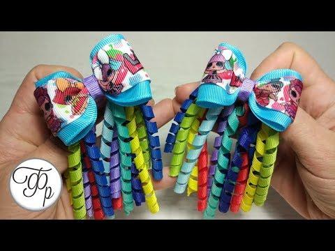 Бантик с кудряшками для малышей. Резинки для волос своими руками.