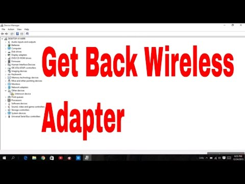 how to get wireless working on windows 10