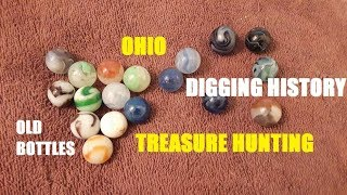 Bottle Digging Ohio TOY MARBLES American History Discoveries Pickers Antiques