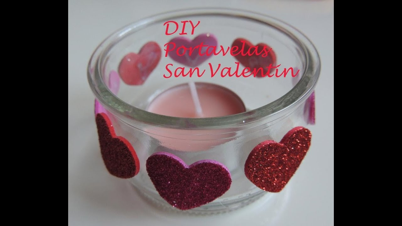 Diy tutorial como hacer un porta velas para san valentin - Decoracion de san valentin ...