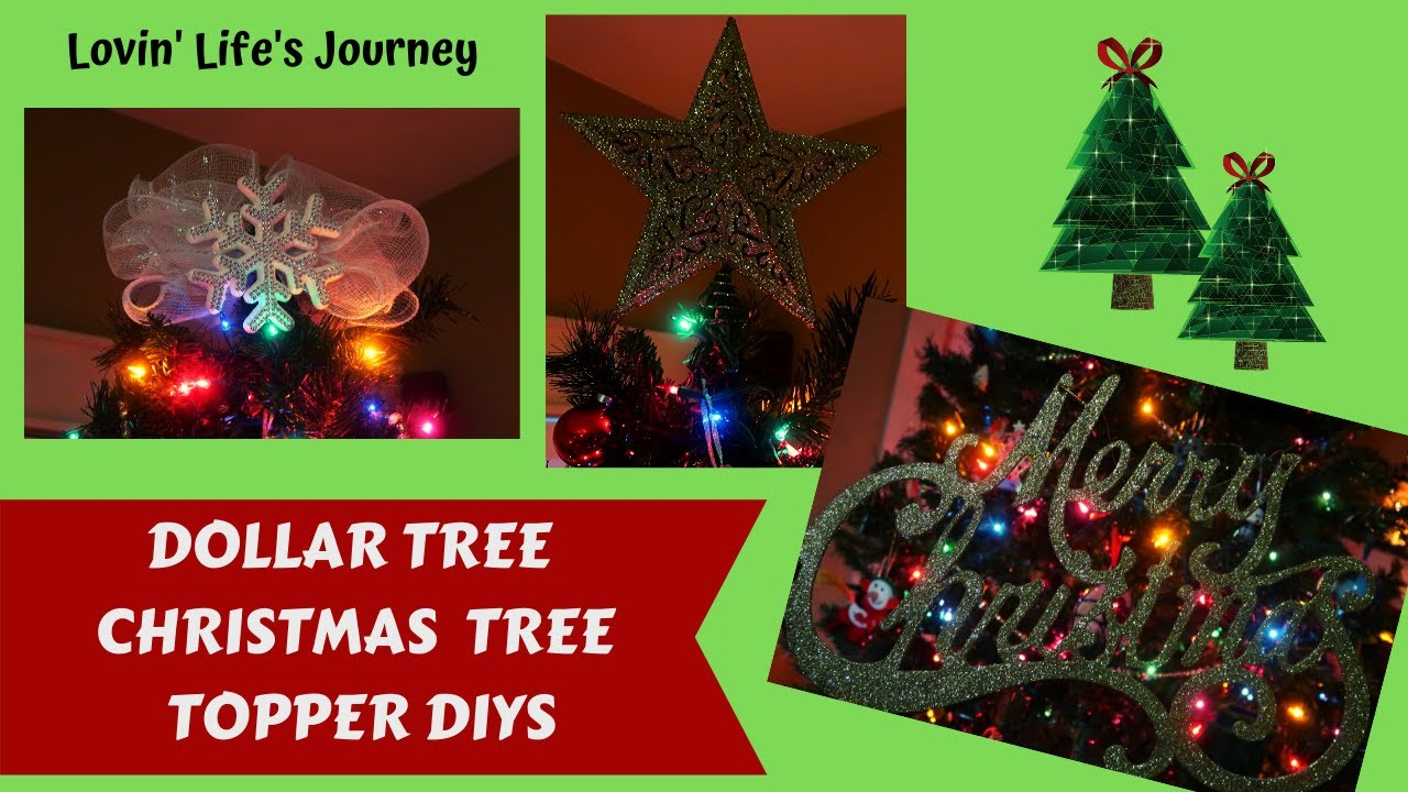 Easy Dollar Tree Diy Christmas Tree Toppers Top Your Tree On A Budget Youtube