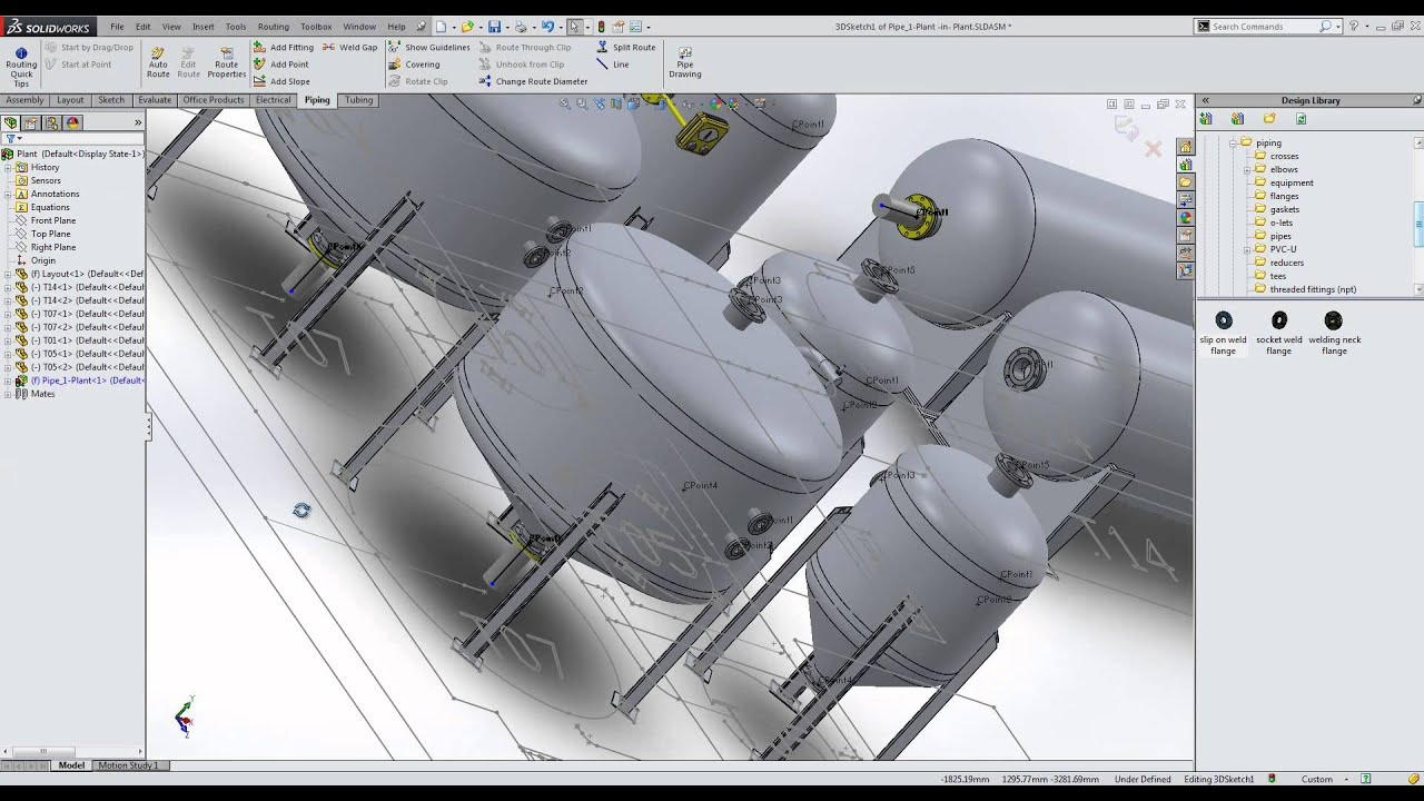 Solidworks in your industry pt4 plant and site layout 3d drawing website