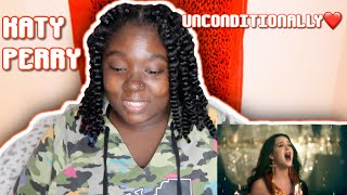 KATY PERRY- UNCONDITIONALLY MUSIC VIDEO | REACTION