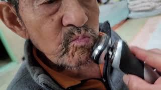 혼자 면도못하시는 94세울할아버지 처음으로 면도해드렸습…