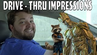 Rocket and Groot at the Drive - Thru