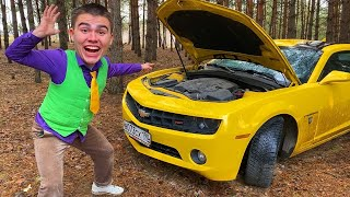 Mr. Joe on Broken Chevrolet Camaro in Woods & Repair Sport Car in Car Service 13+
