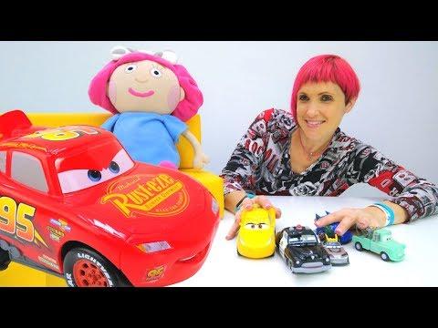 Молния МАКВИН и ПОЛНЫЙ ПОРЯДОК 6 КапукиКануки  Цифры - МАШИНКИ  Видео для детей с игрушками