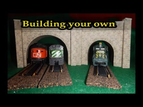 Ho scale n scale tunnel portals youtube for N portal