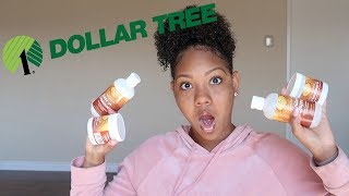 I USED ONLY DOLLAR TREE HAIR PRODUCTS & THIS HAPPENED! (SHOCKING RESULTS, $1 Hair Routine)