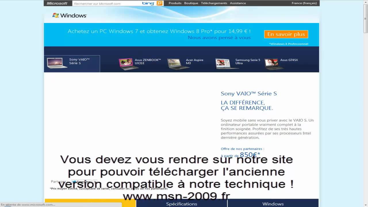 Tuto remettre l 39 ancienne version msn 2009 youtube - Telecharger open office ancienne version ...