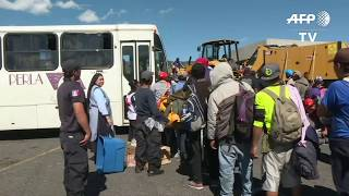 Buses, Trucks Pick Up Migrants In Mexico To Continue Journey