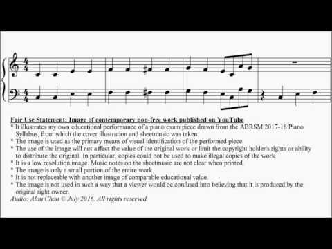 Abrsm Piano 2017 2018 Grade 1 C3 C3 Trad American When The Saints