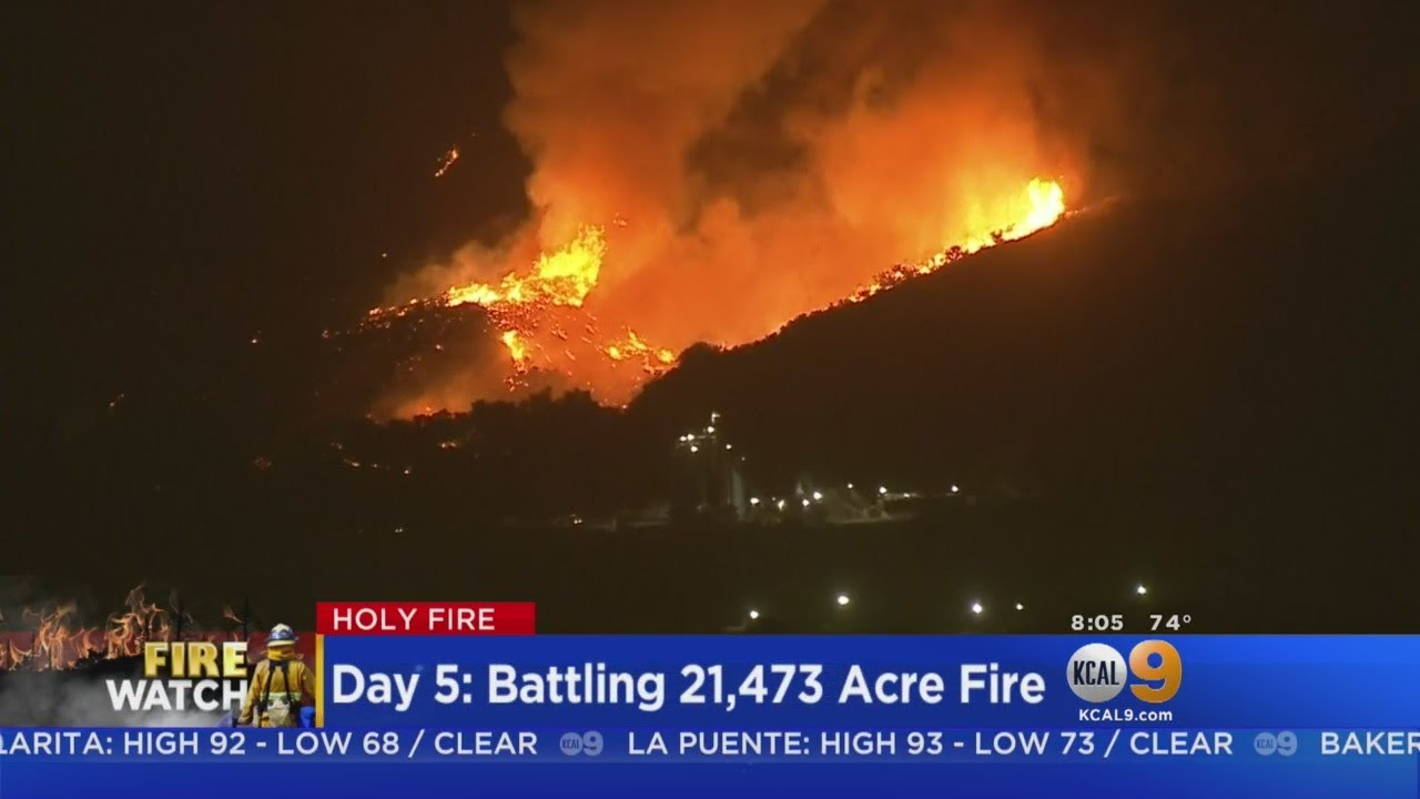 Crews Make Progress Against Arson-Sparked Holy Fire