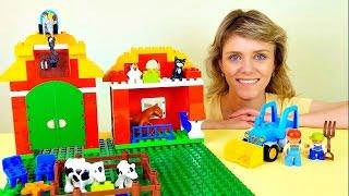 Видео для детей. Собираем конструктор LEGO Ферма. Video for kids and Lego toys