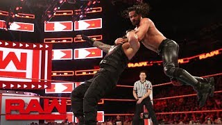 Roman Reigns vs. Seth Rollins - Seven-Man Gauntlet Match Part 1: Raw, Feb. 19, 2018