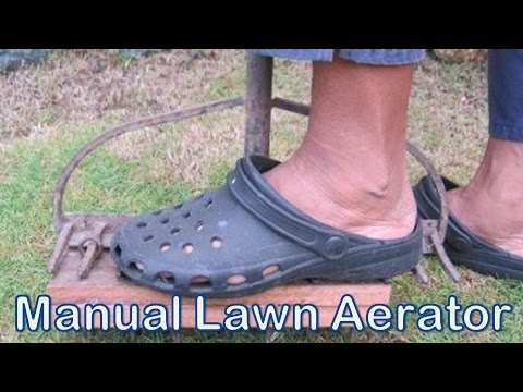 Homemade Manual Lawn Aerator Using Garden Rake