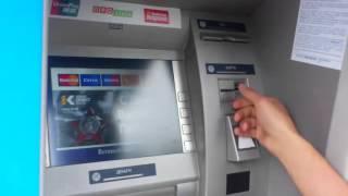 Вывожу деньги с банкомата заработанные на ютубе
